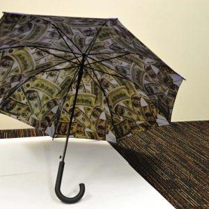 Geluks paraplu met bankbiljetten
