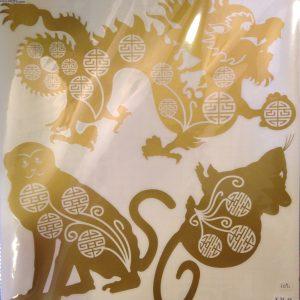 Draak, Aap, Rat Sticker