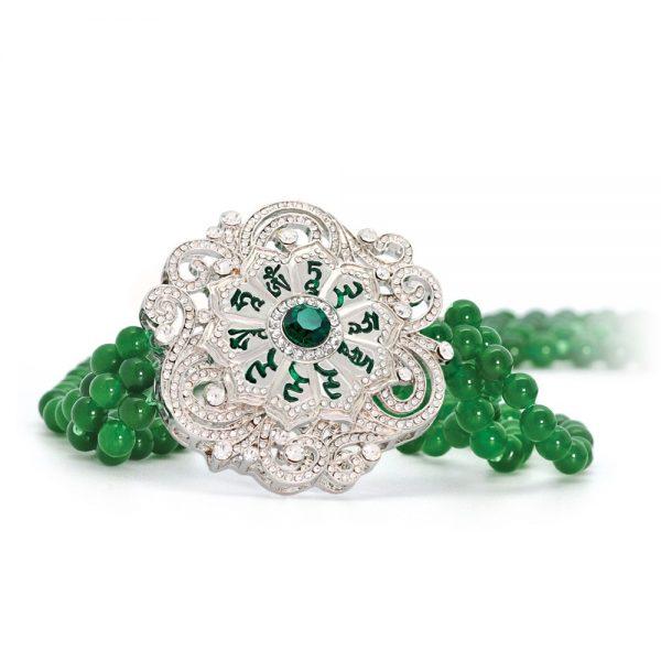 Green Tara Mantra Mandala Necklace (Halssieraad)