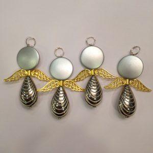 4 engelen voor uw kerstboom of als gift
