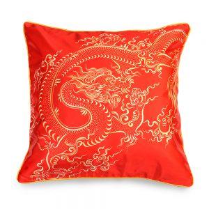 Red Fire Dragon cushions set of 2 pcs
