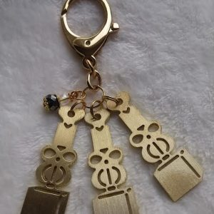 LLL triple 5 chi symbool sleutel hanger met mini wu lou