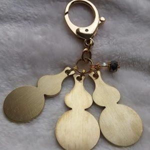LLL triple Wu lou sleutel hanger met mini wu lou