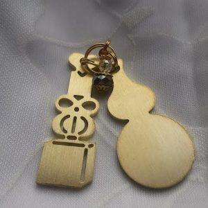 5 chi symbool met wu lou messing en mini wu lou