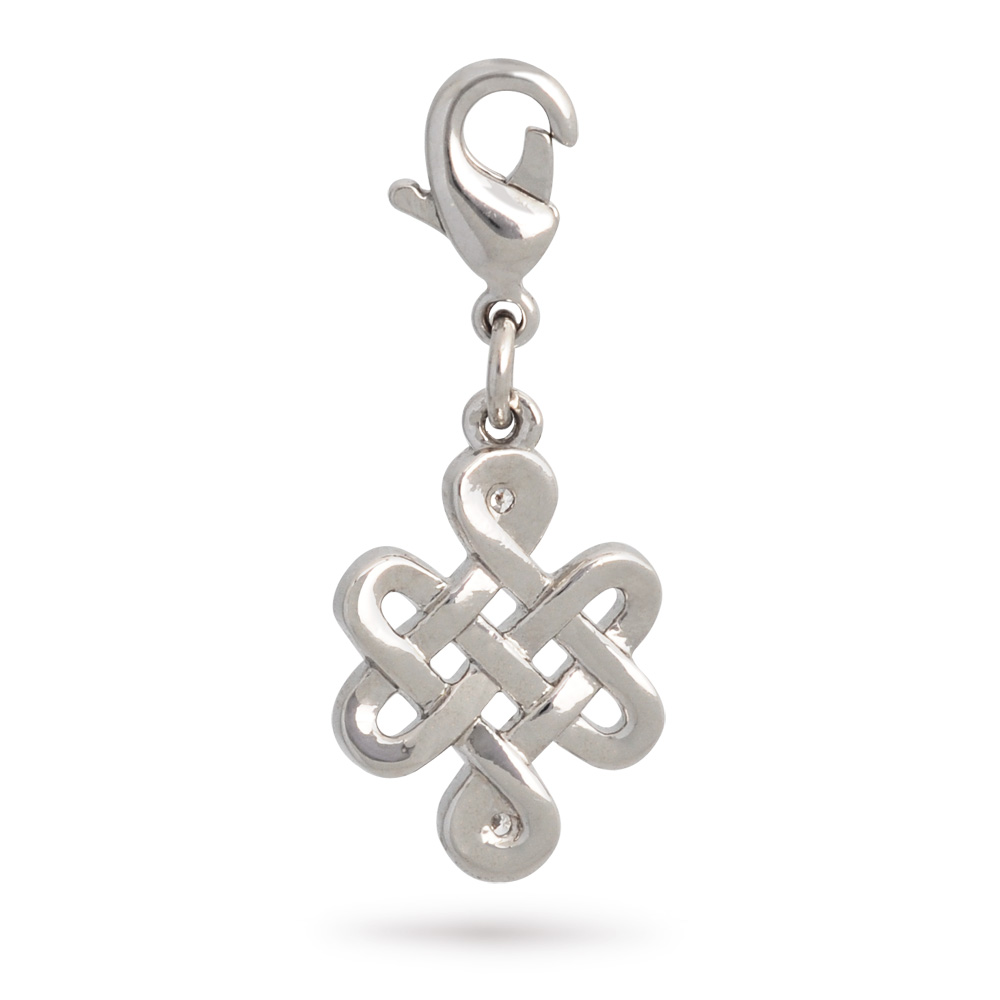 Lucky charms mystic knot pendant mystiek knoop hanger verguld mystic knot mystic knot mozeypictures Image collections