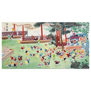 100 children painting