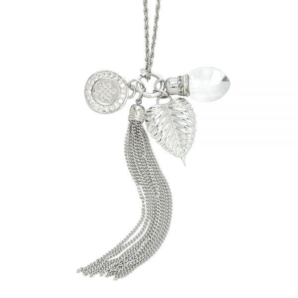 Bodhi leaf necklace