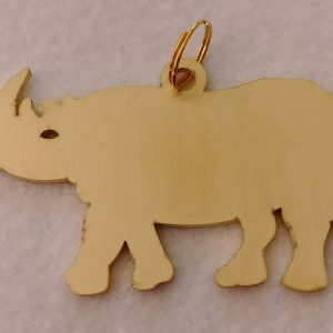 messing rhino keychain