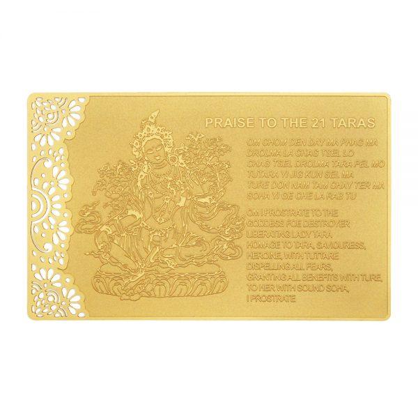 Praise to the 21 taras gold