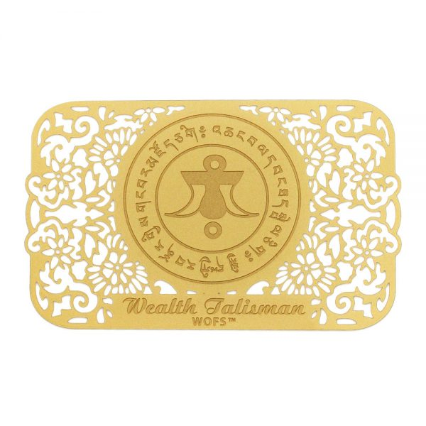 wealth talisman gold front