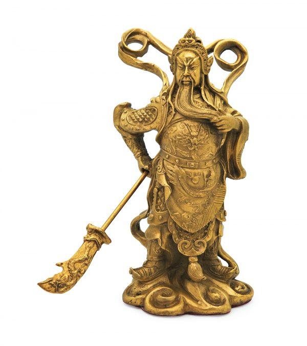 Beeld Kuan Kung in brons